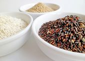 Black, Brown, White Rice Bowls