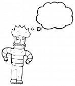 cartoon angst man