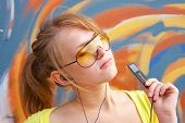 Girl With Mp3 Player
