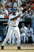 NEW YORK - MAY 20: Carlos Delgado #21 of the New York Mets gestures as he prepares to hit against th