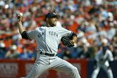 NEW YORK - MAY 20: Mariano Rivera #42 of the New York Yankees pitches against the New York Mets on M