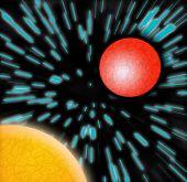 Sun mars Planeten blau Zoom Sternen bewertet