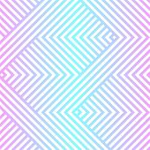 Vector Geometric Seamless Pattern With Chevron, Zigzag Lines, Stripes. Neon Holographic Gradient, Bl poster