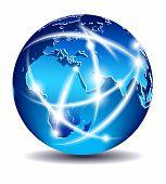 Communication World, Global Commerce - Europe, Middle East, Africa - Eps 10