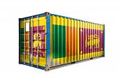 The Concept Of  Sri Lanka Export-import, Container Transporting And National Delivery Of Goods. The  poster