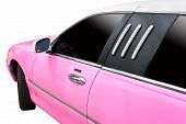 Pink Limousine For Wedding.