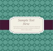 Vintage vector invitation