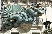 A Dragon as decoration at a house in Barcelona