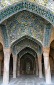 stock photo of shiraz  - Beautiful and impressive Vakil mosque in Shiraz - JPG