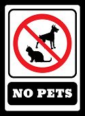 No Pets Sign.pets Are Not Allowed Icon.no Dogs Sign And No Cats Sign Drawing By Illustration poster