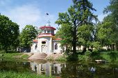 stock photo of tsarskoe  - Old and vintage summerhouse in Tsarskoe selo - JPG
