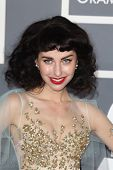 LOS ANGELES - FEB 10:  Kimbra arrives at the 55th Annual Grammy Awards at the Staples Center on Febr