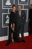 LOS ANGELES - FEB 10:  Jennifer Lopez, Casper Smart arrive at the 55th Annual Grammy Awards at the S