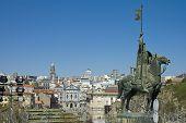 Vimara Peres Statue At Porto, Portugal