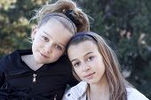 Two Young Girls Best Friends