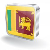 3d Glossy Sri Lanka Flag Vector Icon