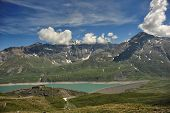 Panorama Of The Mont Cenis Lake