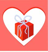 picture of bordure  - Gift box and heart frame - JPG