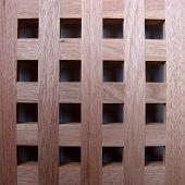 Geometría de la rejilla cuadrada de madera