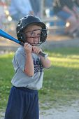 Boy Batting Baseball