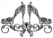 picture of stiletto  - ornate shoes design element  - JPG