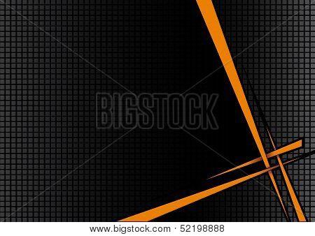 Background Black Orange Disco poster