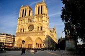 pic of hazy  - Notre Dame Cathedral bathed in golden hazy afternoon sunlight