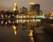 Downtown Providence At Night