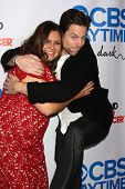 LOS ANGELES - OCT 8:  Michael Muhney, Angelica McDaniel at the CBS Daytime After Dark Event at Comed