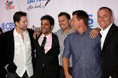 LOS ANGELES - OCT 8:  Michael Muhney, Ignacio Serricchio, Joshua Morrow, Steve Burton, Sean Carrigan