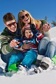 stock photo of snow-slide  - Winter season - JPG