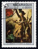 Postage Stamp Nicaragua 1989 Liberty Guiding The People