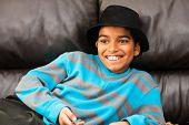 Boy In Black Hat