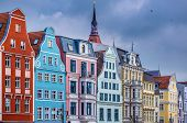 Historic Buildings in Rostock, Germany.