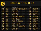 stock photo of algiers  - Departure board  - JPG