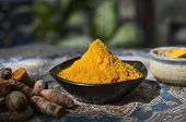 stock photo of haldi  - The India spice Crcuma, also called Turmeric or Haldi 