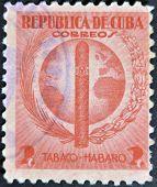 Cuba - Circa 1940: A Stamp Printed In Cuba Dedicated To Havana Snuff, Circa 1940