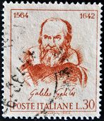Italy - Circa 1964: A Stamp Printed In Italy, Shows Galileo Galilei, Circa 1964