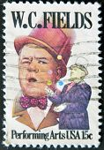 United States Of America - Circa 1990: A Stamp Printed In The Usa Shows Image Of W. C. Fields