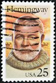Usa - Circa 1994: Stamp Printed In Usa Show Shows Ernest Hemingway, Circa 1994