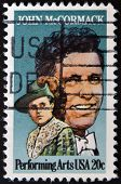 United States Of America - Circa 1984: Stamp Printed By United States, Shows John Mccormack