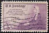 stamp shows image of the dedicated to the Memory And In Honor Of The Mothers Of America