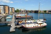 Blackwall Basin Docklands London England Uk