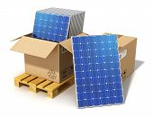 foto of solar battery  - Creative solar power generation technology - JPG