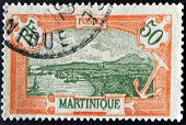 France - Circa 1950S: A Stamp Printed In France Shows Martinique, Circa 1950S