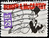 United States Of  America- Circa 1991: A Stamp Shows Edgar Bergen And Charlie Mccarthy