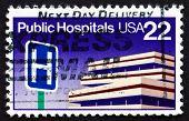 Postage Stamp Usa 1986 Public Hospitals