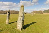 Neolithic standing stones in Western Scotland