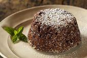 Homemade Chocolate Lava Cake Dessert