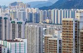 stock photo of overpopulation  - City in Hong Kong - JPG